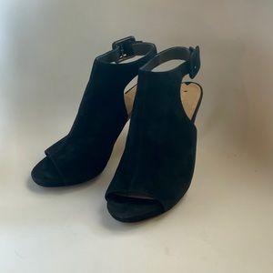 Via Spiga Italy Leather Pee Toe Heel Boots Sz 8.5